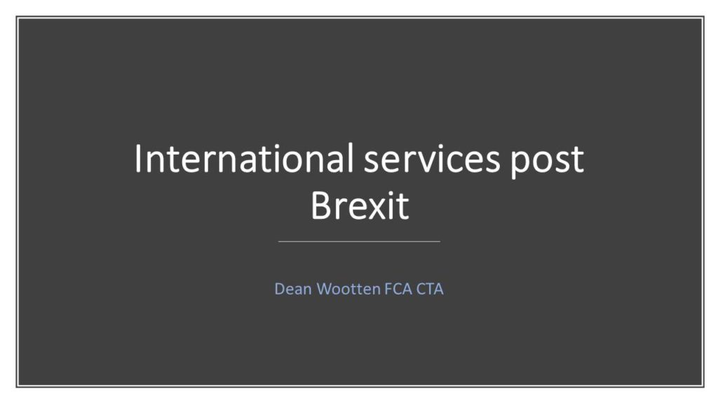 International services post Brexit